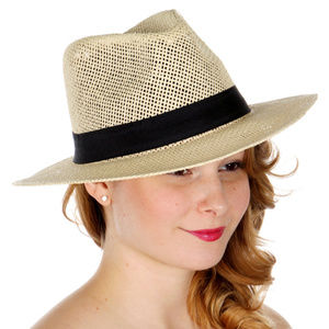 Loosely woven panama hat